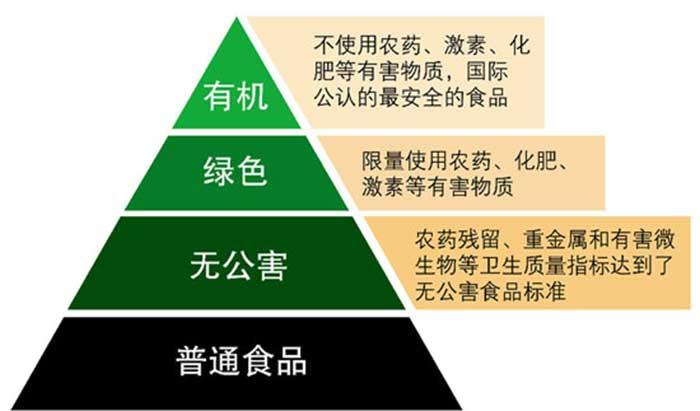 食品等级金字塔