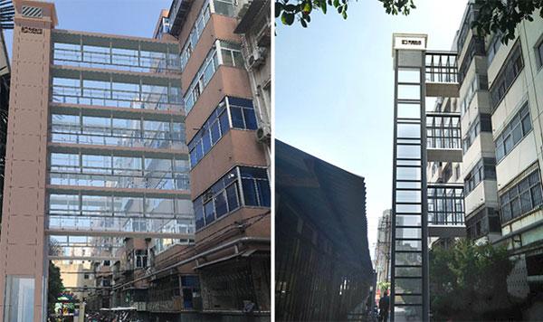 蒂森克虏伯电梯为罕见大型旧楼加装项目提供设备